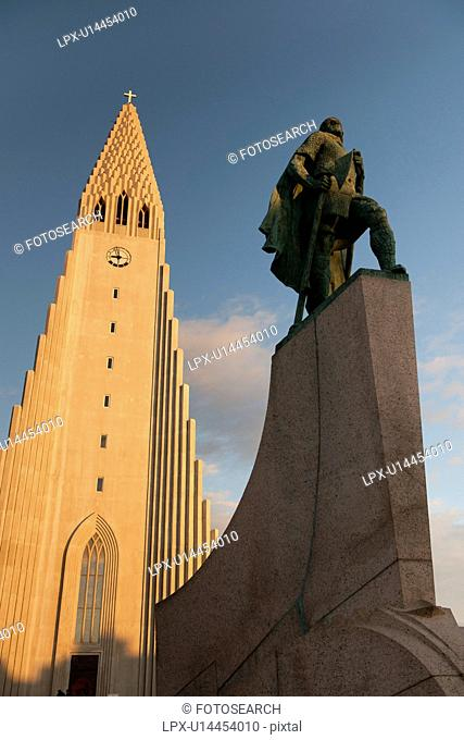 Extrior of a Christian church in Iceland