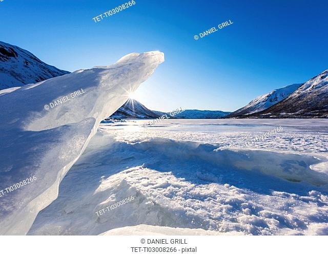 Polar landscape in Tromso, Norway