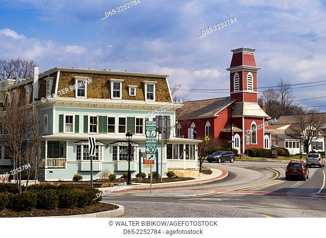 USA, Manchester Center, town view