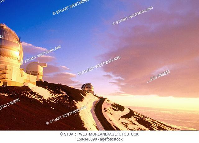 Ellison S. Onizuka Astronomy Complex, Mauna Kea. Big Island, Hawaii. USA