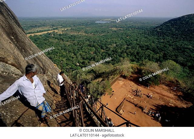 Sigiriya is an archeological site and rock fortress in Central Sri Lanka. It contains the ruins of an ancient palace complex,and is a UNESCO World Heritage Site