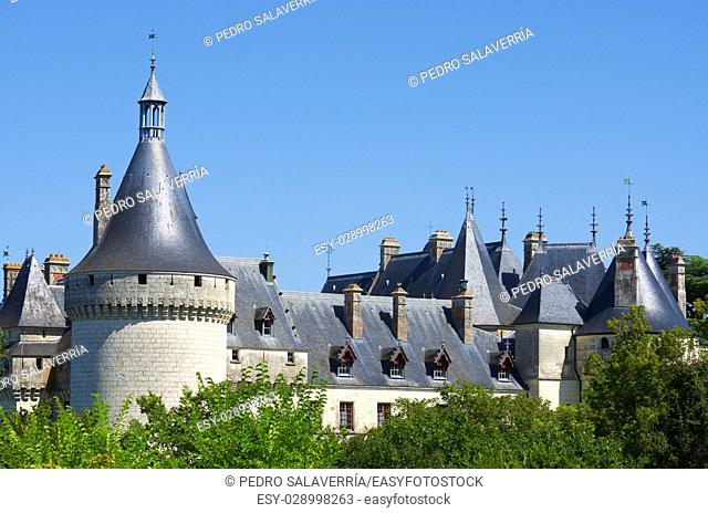 Castle of Chaumont Sur Loire, Loire Valley, France. Originally built in the 10th century, has undergone multiple renovations until reaching its present...