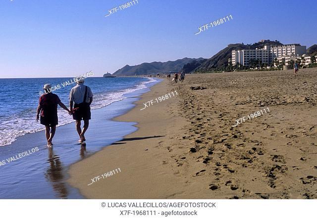 Las Ventanicas beach.Mojacar, Almeria province, Andalucia, Spain