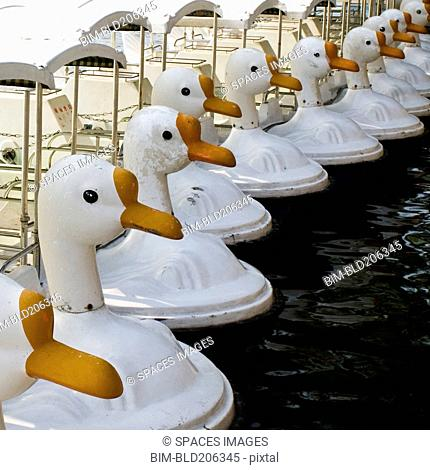 Paddle Boats With Swan Heads at Beihai Park