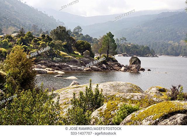 The Burguillo reservoir in the Cruceras  Ávila  Castilla León  Spain
