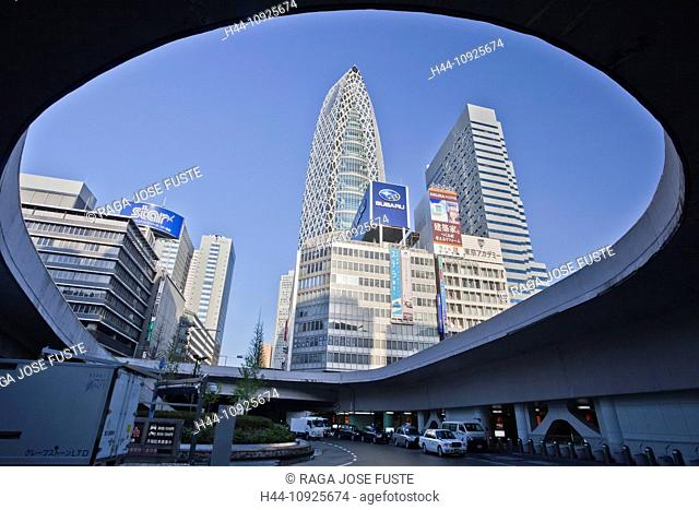 Japan, Asia, holiday, travel, Tokyo, City, Shinjuku, District, West Side, building, center, buildings, ramp, Cocoon Tower, skyline
