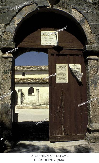 Entry to a monastery, Greece, Zakynthos