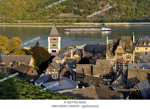 Germany, Rhineland Palatinate, Bacharach, the romantic Rhine listed as World Heritage by UNESCO
