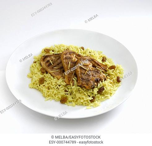 Lamb with rice