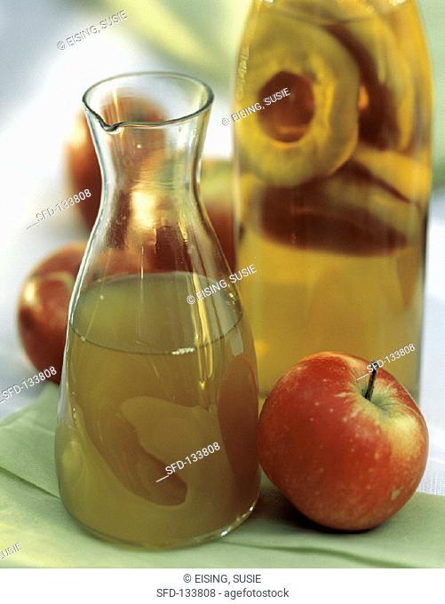 A Carafe and Bottle of Apple Vinegar, Apple