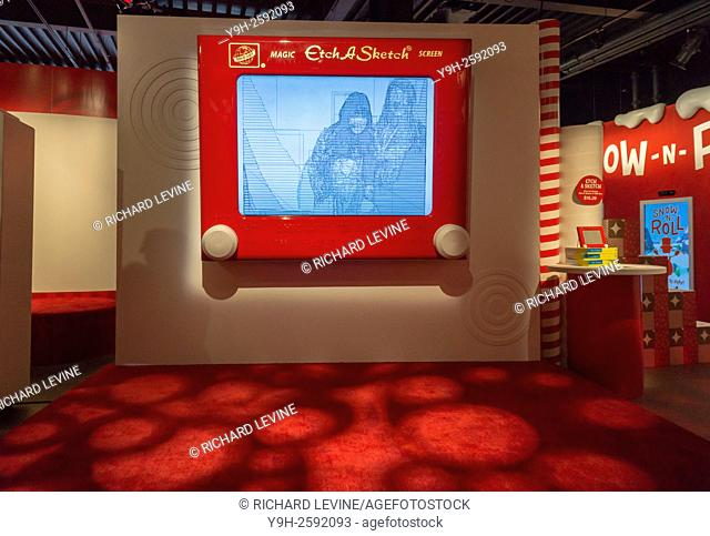A giant Etch-A-Sketch display in the Target ''Wonderland!'' pop-up store in the Meatpacking District in New York. According to Target the store combines...