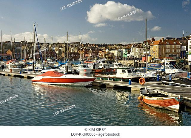 England, North Yorkshire, Scarborough, Boats in Scarborough Inner Harbour