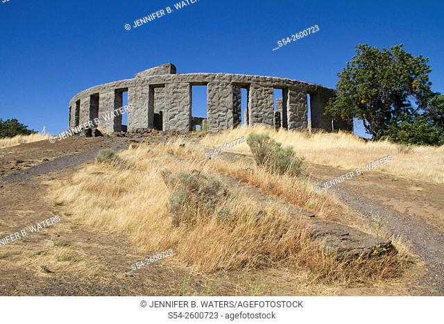 Stonehenge full-size replica in Maryhill, Washington, USA