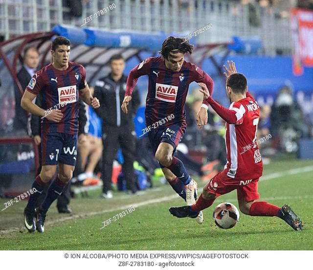 Match day , of Copa S. M del Rey 2016 - 2017 season between S. D Eibar and Sporting de Gijon, played Ipurua Stadium on wednesday december 21th, 2016
