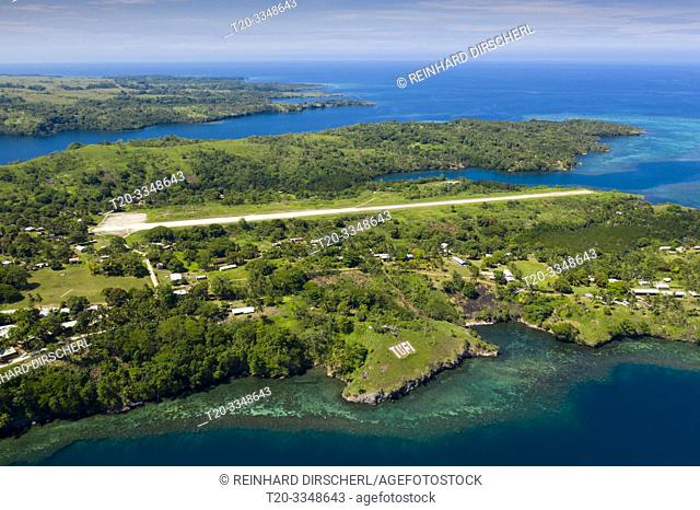 Aerial View of Tufi with Aristrip, Tufi, Cape Nelson, Papua New Guinea