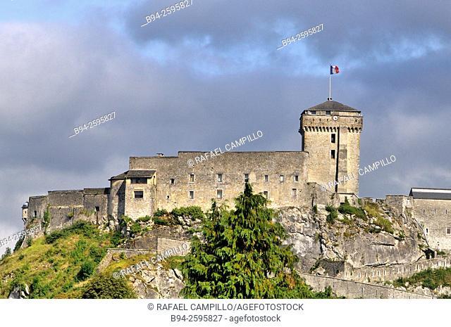 The Château Fort of Lourdes, listed as  historic monument by the French Ministry of Culture. Lourdes, Hautes-Pyrénées department, Midi-Pyrénées region