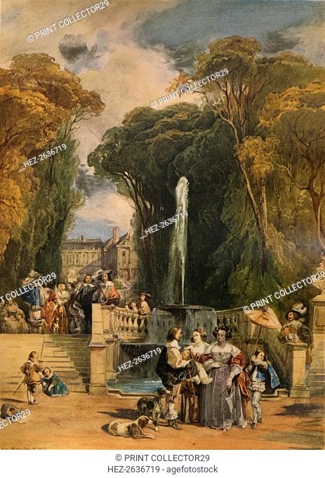 'Garden of a French Chateau', 1832, (1938). Artist: Camille Joseph +tienne Roqueplan