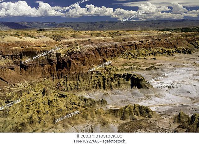 USA, Vereinigte Staaten, Amerika, devils kitchen, WY, Wyoming, Big Horn Mountains, Berge, trocken, Wüste, badlands, blauer Himmel