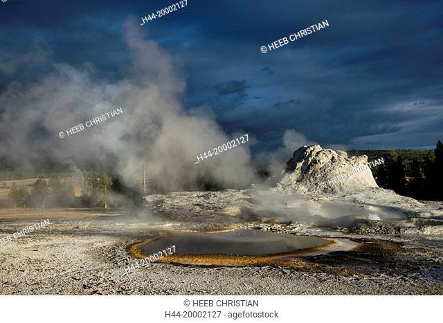 Wyoming, Yellowstone, National Park, UNESCO, World Heritage, Upper Geyser Basin, Castle geyser