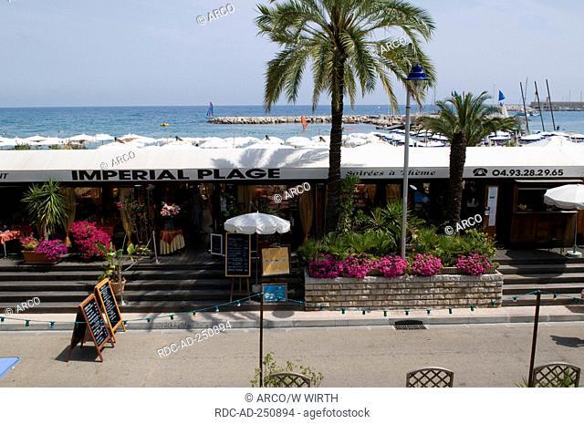 Restaurant Imperial Plage seaside promenade Menton Cote d'Azur Provence Southern France