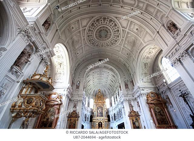 Germany, Bavaria, Munich, Neuhauserstrasse, St. Michael Church Interior View