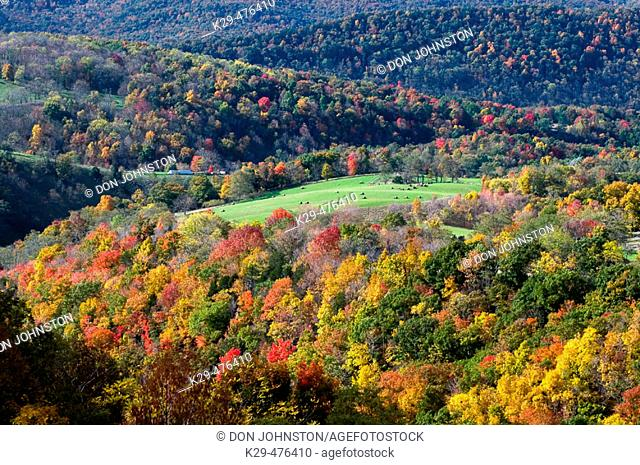 West Virginia autumn landscape. Germany Valley, WV, USA