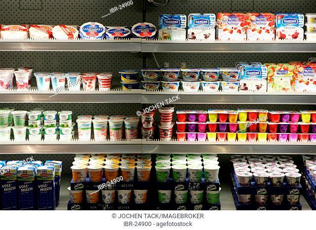 DEU, Germany, Duesseldorf. : Supermarket cooler, refrigerator, at the Euroshop, tradeshow for shopfitting, store equipment, visual merchandising, Promotion