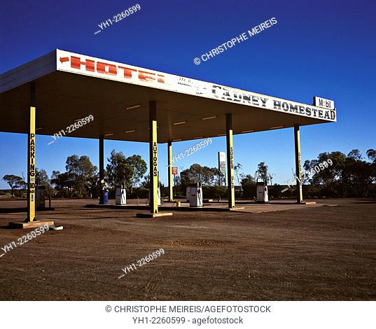 Gas station in outback