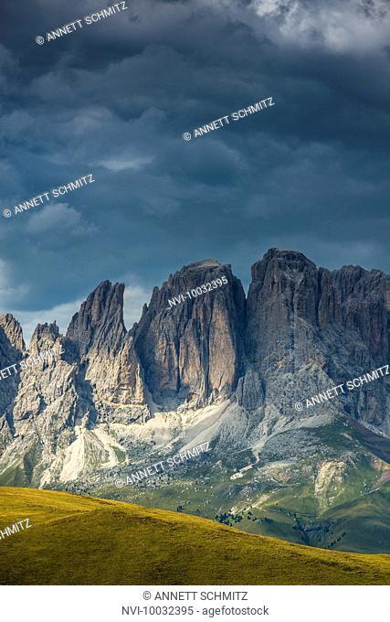 Langkofel Group, Val di Fassa, Dolomites, South Tyrol, Italy