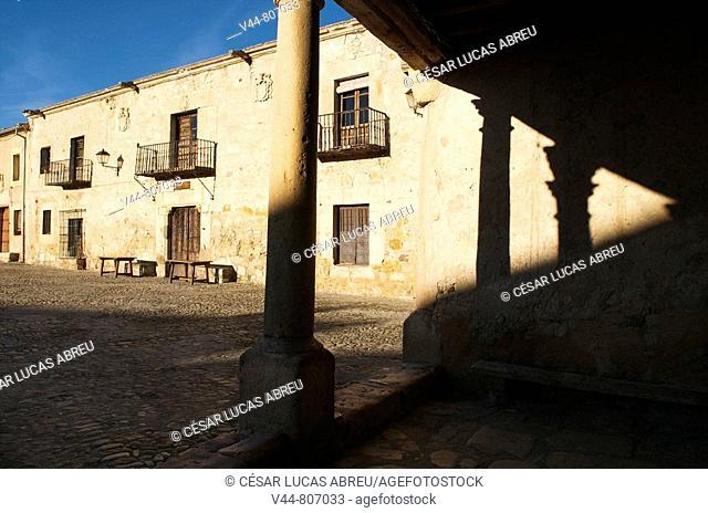 Main Square, Pedraza. Segovia province, Castilla-Leon, Spain