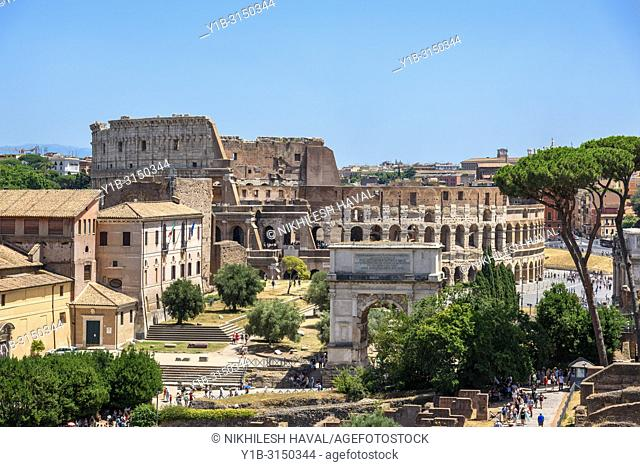 Colosseum & Arch of Titus, Rome, Italy