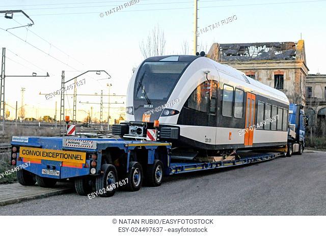 Subway train, Lleida, Spain