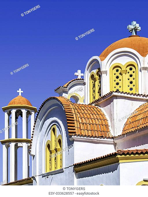 One of the Greek Orthodox churches in the town of Lerapetra on Crete