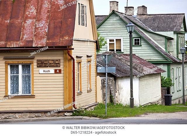 Estonia, Western Estonia, Haapsalu, house wwher Peter the Great of Russia lived in 1715