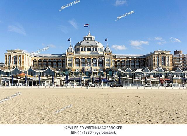 Spa hotel, beach, Scheveningen, The Hague, Holland, Netherlands