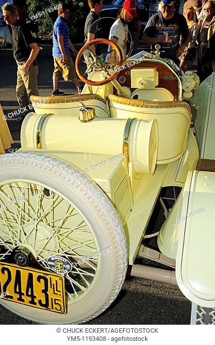 1915 Yellow Ford Model T at small town American car show