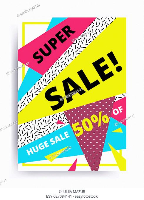 Autumn summer sale banner. Hurry One day deal, special offer, big sale, clearance. Editable Bright Stock Vector Illustration