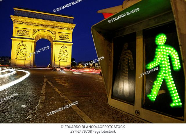 Arch of Triumph of the Star. Paris. France. Europe