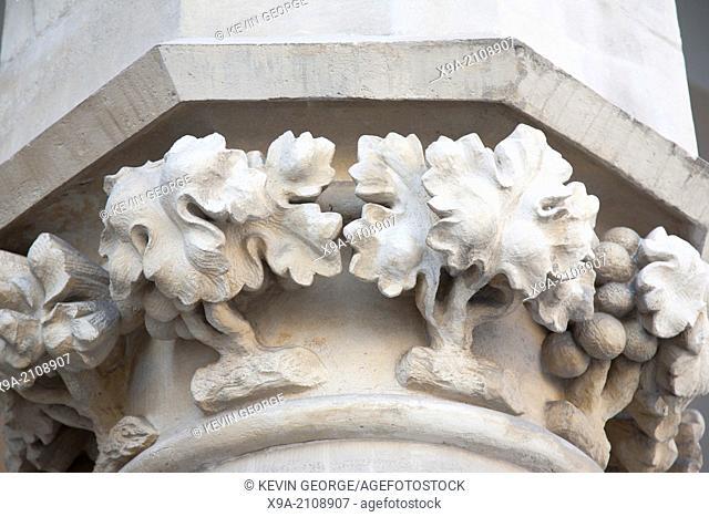 Detail on Facade of Cloth Hall, Krakow, Poland, Europe