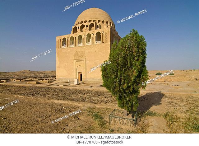 Reconstructed domed mausoleum, Merv, Turkmenistan, Central Asia