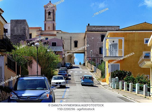 Street scene, Santa Teresa Gallura, Northern Sardinia, Italy