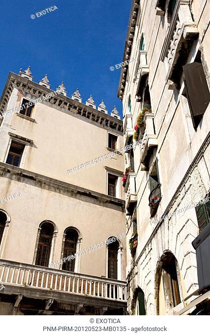 Low angle view of buildings, Venice, Veneto, Italy