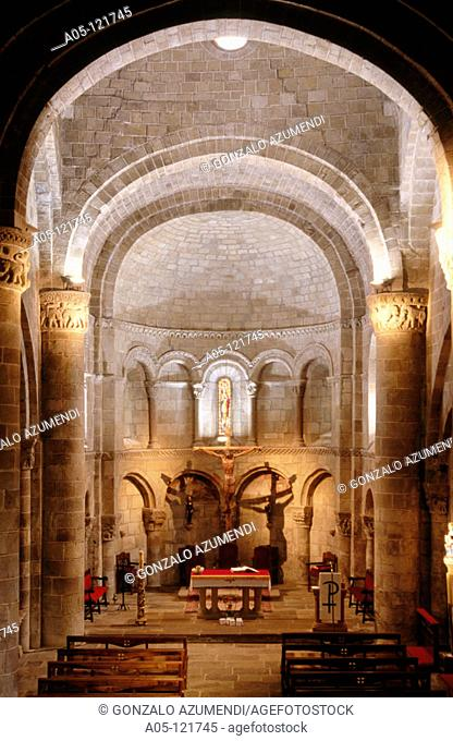 Romanesque collegiate church (XIIth century). San Martin de Elines. Valderredible. Cantabria. Spain