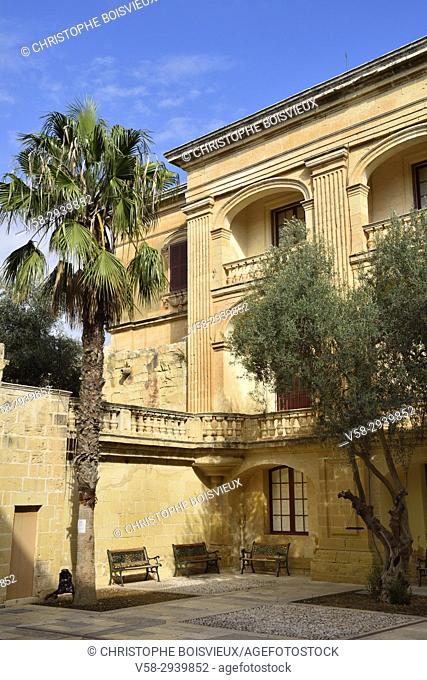 Malta, Mdina, Palazzo Vilhena (18th C), former Grand Master palace, now home of the Museum of Natural History
