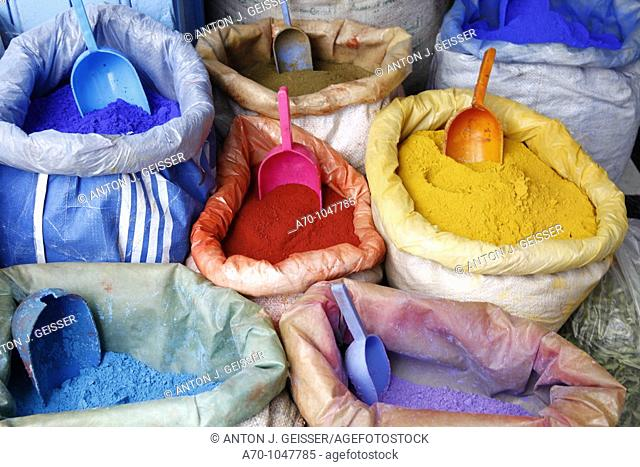 Bags of powder paint for the Holi