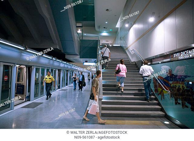 Subway, Turin. Piedmont, Italy