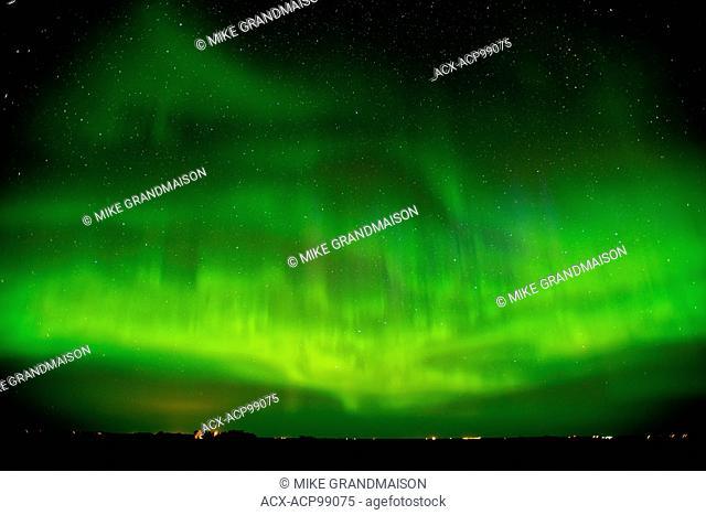 Northern lights (Aurora borealis) Indian Head Saskatchewan Canada