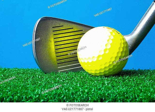 club, leisure, ball, golfball, golf, iron, sports