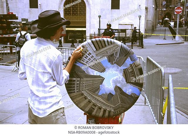 Street Artist in Wall Street, Manhattan