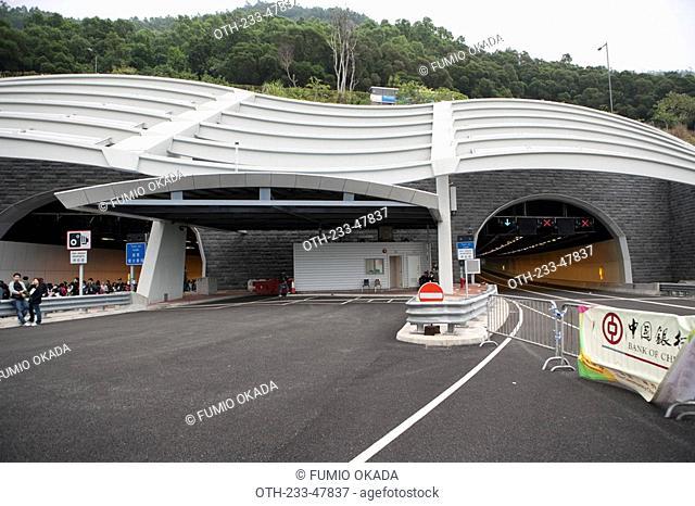 Nam Wan tunnel, Route 8, New Territories, Hong Kong